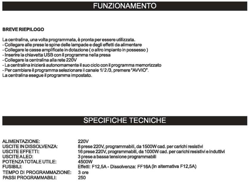 Professional USB Funzionamento e Specifiche
